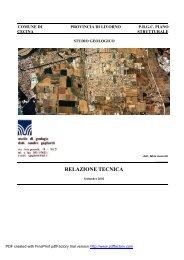 Studio geologico P.S. (pdf - 1.337 kB) - Comune di Cecina