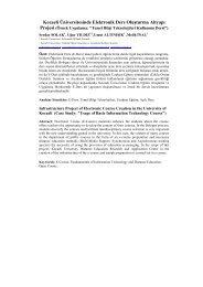 Kocaeli Üniversitesinde Elektronik Ders Oluşturma Altyapı