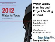 Water Supply Planning and Project Funding in Texas - WESTCAS