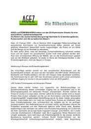 AGEZ und RÜBENBAUERN fordern von der EU ... - OneWorld