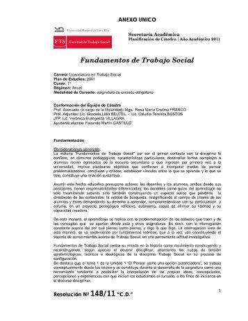 Fundamentos de Trabajo Social - Facultad de Trabajo Social ...