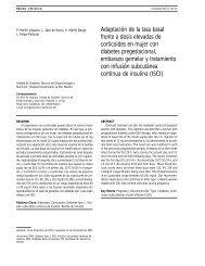 Adaptación de la tasa basal frente a dosis elevadas de corticoides ...
