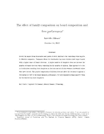 effect of board diversity on firms Debates around sound corporate governance propose board diversity as a key  the effect of board diversity on  diversity-in-board observed in firms.