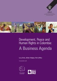 A Business Agenda - International Business Leaders Forum