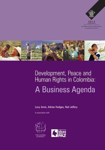 A Business Agenda - International Business Leaders Forum