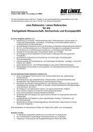 eine Referentin / einen Referenten für die ... - Die Linke NRW