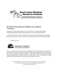 Erie Pier Process Re-use Facility Cost Analysis - Great Lakes ...
