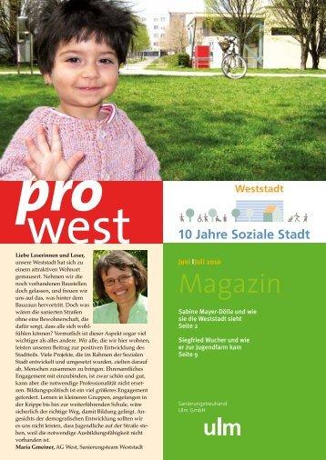 10 Jahre Soziale Stadt Weststadt - AG West e.V.