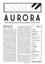 Aurora 03/09 - Linke Liste Trier