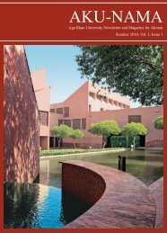 Summer 2010, Vol. 3, Issue 1 - Aga Khan University