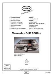 Mercedes GLK 2008 - Cobra-SOR