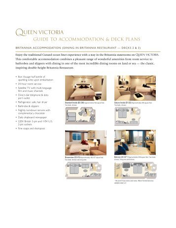 guide to accommodation & deck plans - Official Cunard Line ...