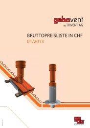 BRUTTOPREISLISTE IN CHF 01/2013 - Trivent AG