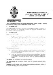 Standard Terms and Conditions - Devon & Cornwall Police