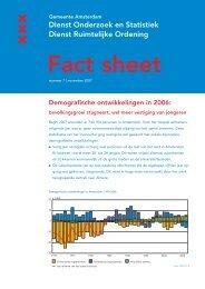 Demografische ontwikkelingen in 2006 - Onderzoek en Statistiek ...