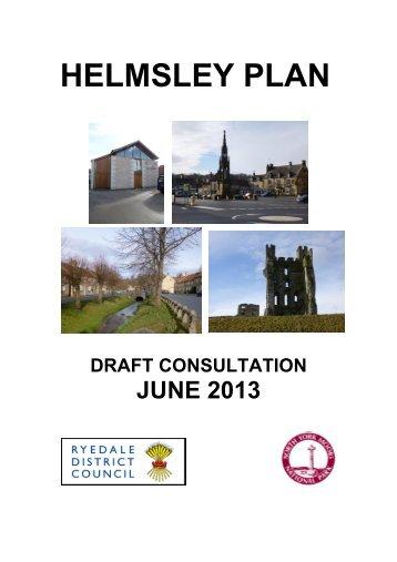 Draft Helmsley Plan (June 2013) - North York Moors National Park
