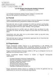 Basis-lovnorm for idrettskretser - Norges Amerikanske Idretters ...