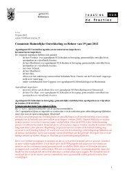De reacties van de fracties - Gemeente Schiedam