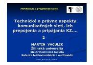 Technické a právne aspekty_02.pdf - Katedra telekomunikácií a ...