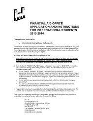 Satisfactory Academic Progress Appeal Packet - UCLA