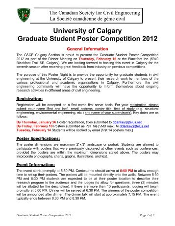 Rules & Specifications - The Schulich School of Engineering ...