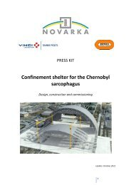 Press kit - Confinement shelter for the Chernobyl sarcophagus - Vinci