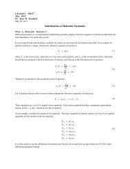 Introduction to Molecular Dynamics