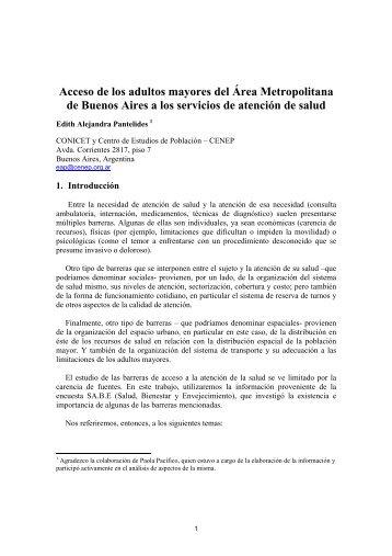 Acceso de los adultos mayores del Área Metropolitana de Buenos ...