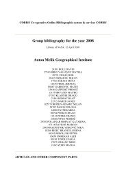 Group bibliography for the year 2008 Anton Melik Geographical ...