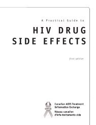 HIV DRUG SIDE EFFECTS - Canadian Public Health Association