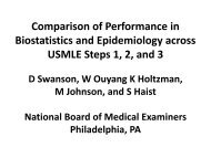 Comparison of Performance in Biostatistics and Epidemiology ...