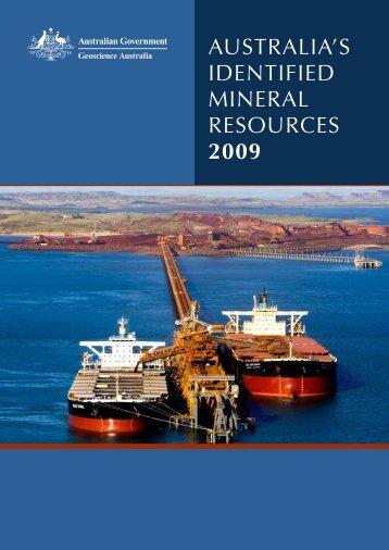Australia's Idendified Mineral Resources - Geoscience Australia