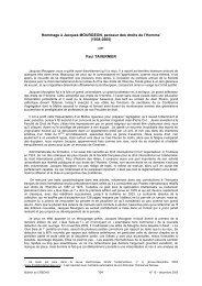 Hommage à Jacques MOURGEON, penseur des droits ... - CREDHO