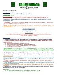 Daily Bulletin - Washington County, MD Public Schools