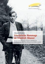 Literarische Hommage an Friedrich Glauser - Integrierte Psychiatrie ...