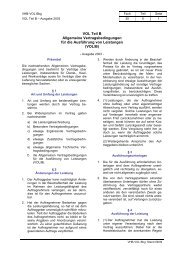 VOL Teil B Allgemeine Vertragsbedingungen für die Ausführung von ...