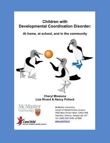 Children with Developmental Coordination Disorder - CanChild ...
