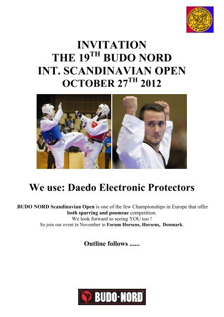 INVITATION THE 19 BUDO NORD INT. SCANDINAVIAN OPEN