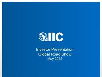Investor Presentation Global Road Show - Inter-American ...
