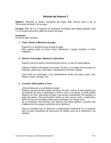 Informe de Avance 3