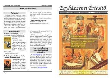 Egyházzenei értesítő 2009. különszám - Magyar Görögkatolikus ...