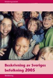 Beskrivning av Sveriges befolkning 2005 - Statistiska centralbyrån