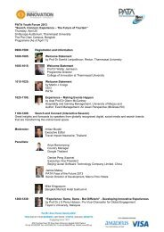 """PATA Youth Forum 2013 """"Search, Connect, Experience – The Future of ..."""
