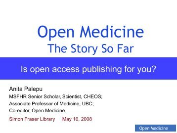 Open Medicine - SFU Library - Simon Fraser University