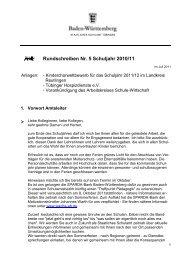 Rundschreiben Nr. 5 Schuljahr 2010/11 - Kultusportal
