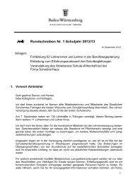 Rundschreiben Nr. 1 Schuljahr 2012/13 - Kultusportal