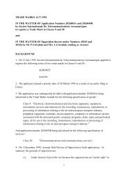 Trade Mark Opposition Decision (0/115/02)