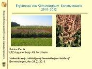 Alternativen zu Körnermais - Körnersorghum und Soja - S. Zarnik