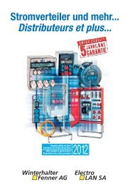Stromverteiler und mehr... Distributeurs et plus...
