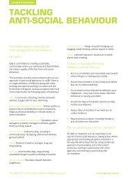 TACKLING ANTI-SOCIAL BEHAVIOUR - London & Quadrant Group